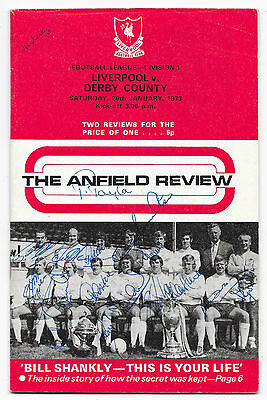 Derby County v Liverpool, 1972/73 - Autographed (Derby County) Match Programme