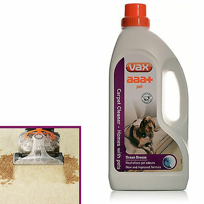 Pet Carpet Cleaner Vax Cleaning Solution Powerful Liquid 1.5 L Dog Cat Odour