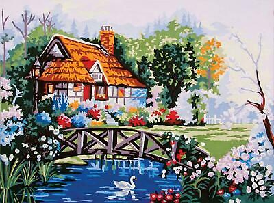 Grafitec Printed Tapestry/Needlepoint Canvas – Pond in the Garden