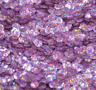 LILAC HEX SEQUINS B7 6mm PVC 10gram / 0.35 oz BAG (approx 1200pcs) Sewing Craft
