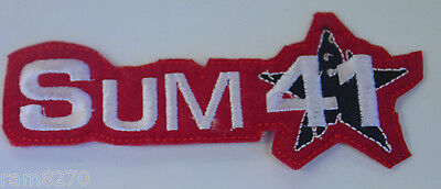Sum 41 Red Embroidered  Sew Iron On Jacket Patch Badge  T-Shirt Logo