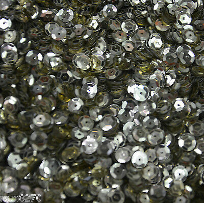 SILVER HEX SEQUINS B18 6mm PVC 10gram / 0.35oz BAG (approx 1200pcs) Sewing Craft