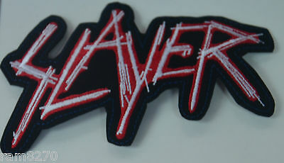 Slayer Embroidered  Sew Iron On  Patch Badge  T-Shirt Jacket Logo New