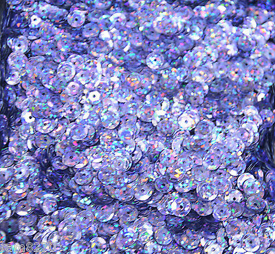 MAUVE HEX SEQUINS B13 6mm PVC 10gram / 0.35 oz BAG (approx 1200pcs) Sewing Craft