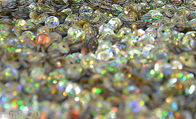 GOLD HEX SEQUINS B2 6mm PVC 10gram / 0.35 oz BAG (approx 1200pcs) Sewing Craft