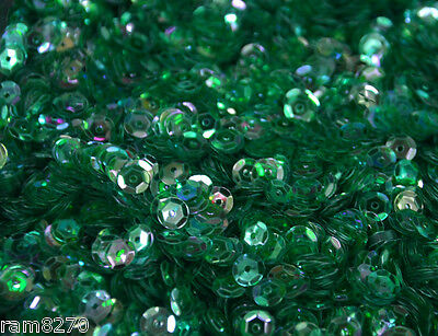 GREEN HEX SEQUINS B6 6mm PVC 10gram / 0.35 oz BAG (approx 1200pcs) Sewing Craft