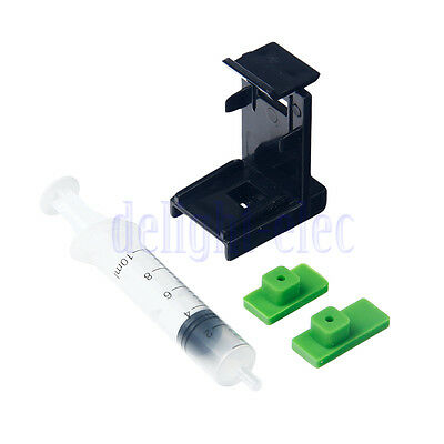 3in1 Ink Refill Cartridge Clip+2X Rubber Pads+Syringe No Needles for HP 60/61 DH