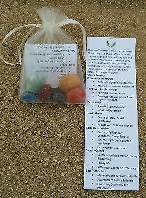 Chakra Gemstone Crystal Healing Kit Set of 7 stones for each of the 7 Chakras