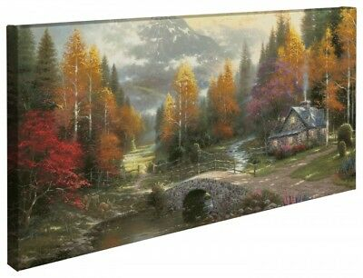 """Thomas Kinkade - Valley of Peace  – 16"""" x 31"""" Gallery Wrapped Canvas"""