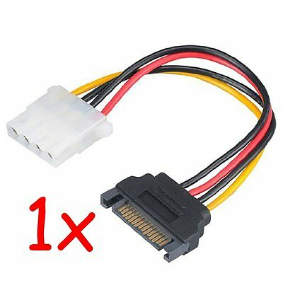 SATA power M to 4 pin molex power F adapter converter connector cable