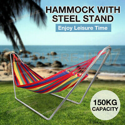 Outdoor Double Hammock Bed Swinging Travelling Rope Durable Tree Hanging Strap
