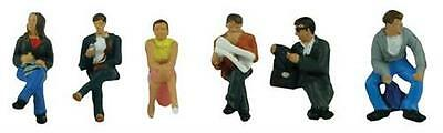 Station Passengers Sitting (x6) Bachmann 36-045 - OO painted figures - free post
