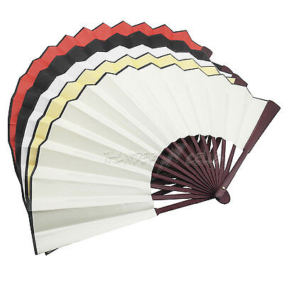 Lot Vintage Hand Fan Folding Chinese Tranditional Culture DIY Drawing Painting