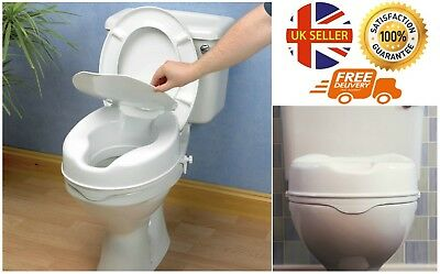 4 Inch Raised Toilet Seat With Lid
