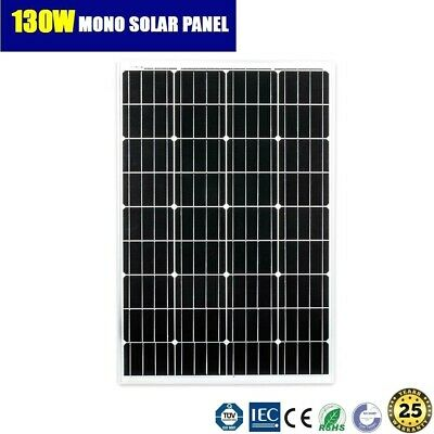 12V 130W Mono Solar Panel Home Generator Caravan Camping Power Battery Charging