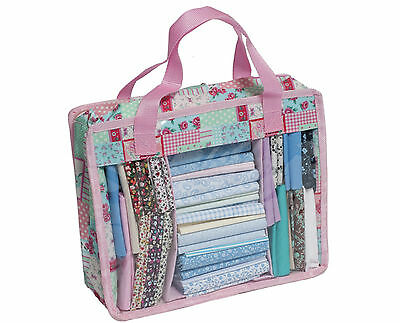 NEW HobbyGift Fat Quarters Storage/Carry Bag | Pink | Quilting Supply | FREEPOST