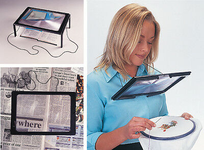 Giant Hands Free Magnifier For Precision Reading, Crafts, Sewing & Detailing