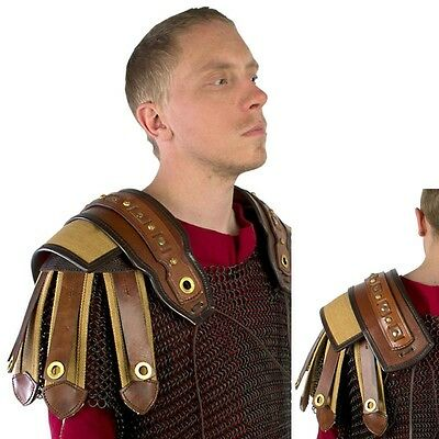 LARP Leather Roman Shoulder Armour - Perfect For LARP / Re-Enactment