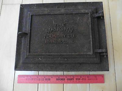 The Vaughn Foundry Co Stove cleanout door Cast iron Norwich Antique wall insert
