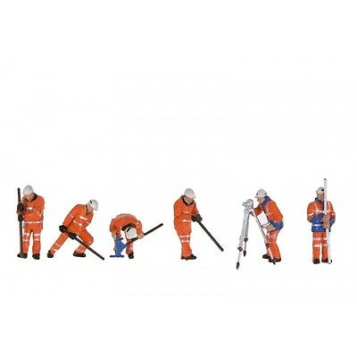 Permanent Way Workers (x6) - Bachmann 36-050 - OO painted figures - free post