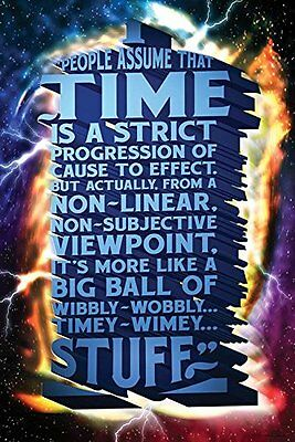 """Time Is Wibbly Wobbly, Timey Wimey Stuff"" GlossyPoster (24""x36"") - Doctor Who"