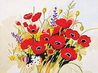 Grafitec Printed Tapestry/Needlepoint Canvas – Wild Poppies (Coquelicots)