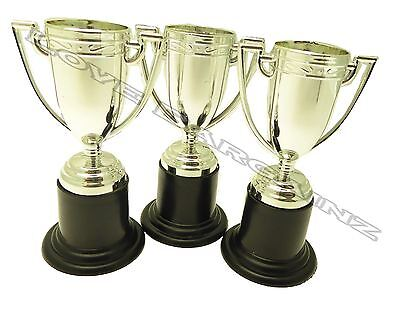 1,12,24&48 Mini Silver Trophy Football Soccer Cup Award Kids Party Bag Filler