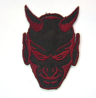 SUBDUED DEVIL MILITARY MORALE Embroidered Sew Iron On Cloth Patch Badge APPLIQUE