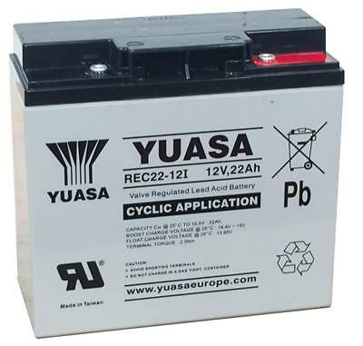 12V 22AH (17AH - 22AH) 18 Holes YUASA YPC22-12 AGM/GEL GOLF TROLLEY BATTERY
