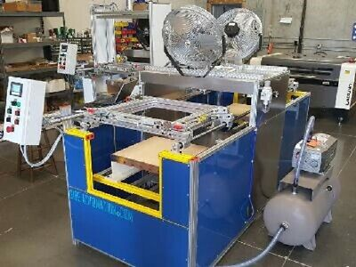 "Sibe Automation Vacuum Forming Machine 24"" X 24"" Double Ender Infrared Heaters"