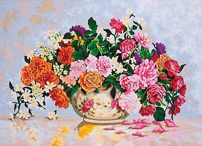 Grafitec Printed Tapestry/Needlepoint Canvas – Roses in a China Bowl