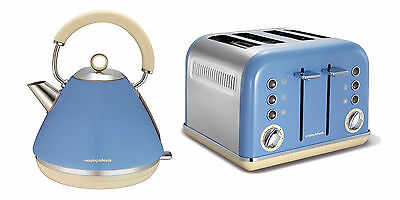 Morphy Richards Accents Kettle And Toaster Set Blue S/Steel 102010 / 242007