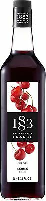 Routin 1883 Coffee Syrup CHERRY ~ 1 Ltr ~ The Flavour of Ripe Red Cherry