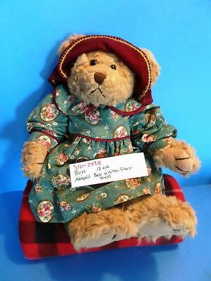 Russ Abigail Bear With Green Dress With Roses plush(310-2428)