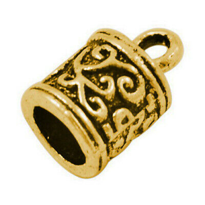 Pack Of 20 x Antique Gold Plated Alloy 6mm Kumihimo Tibetan End Caps  HA03275