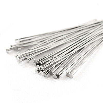 Pack Of 275+ Silver Nickel-Free STRONG Plated Iron 0.7 x 40mm Head Pins HA02150
