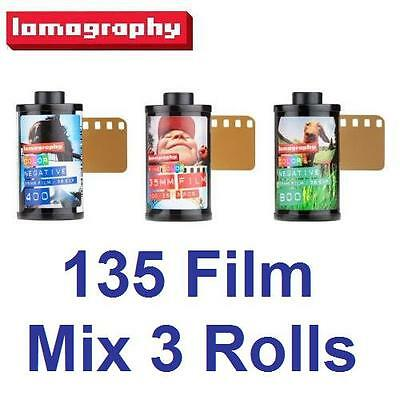 MIX 3 Rolls - Lomography Negative ISO 100 + 400 + 800 Color 135 Film 36exp.