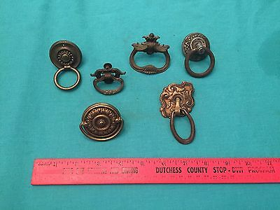 MIX LOT of vintage brass cabinet door Pull Handle antique furniture ornate