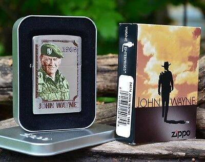 Zippo Lighter - John Wayne Collection - The Duke - 1968 - Green Berets - # 24074