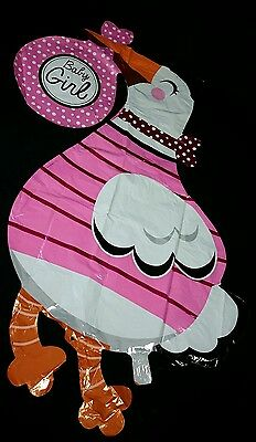 Giant XL Baby Shower Stork Balloon Pink Girl Helium Foil, Decorations,Favor,niña