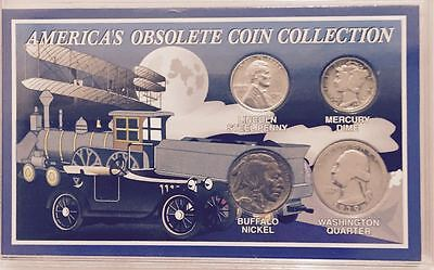 #1 Obsolete Coin Collection   Collector Set In Display Case