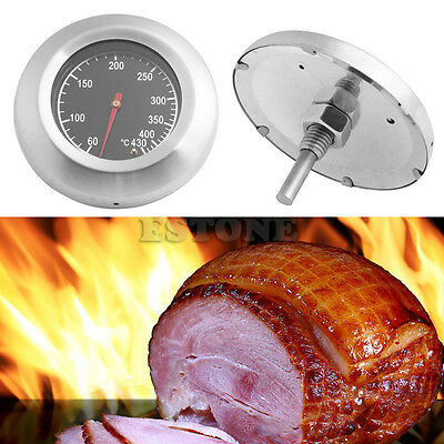 60℃~430℃ Stainless Steel Barbecue BBQ Smoker Grill Thermometer Temperature Gauge