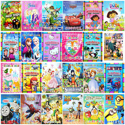 Kids Boys Girls Animals Stickers Coloring Activity Book Educational Party Game