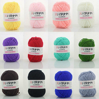 25g/1pc Soft Cashmere Silk Protein Baby Yarn Cotton Baby Wool Hand-knitted Ball