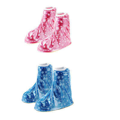 Reusable Rain Shoes Cover Kids Boys Girls Waterproof Rainproof Boots Overshoes