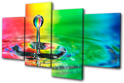 Canvas Art Picture Print Wall Photo Droplet Water Rainbow Abstract Concept