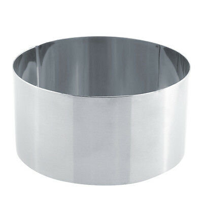 New Lovely Round Stainless Steel Mousse Cake Ring Mold Cupcake Mould DIY Baking