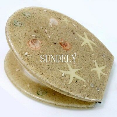 Toilet Seat Resin Novelty Toilet Seats with zinc alloy hinges