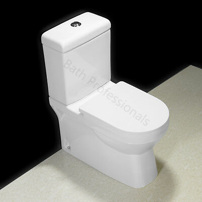 Toilet WC Bathroom Close Coupled Ceramic Soft Closing Round Seat Dual Flush T20N