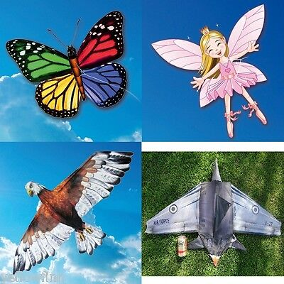 EOLO 3D Pop-Up Kite's Butterfly, Eagle, Fairy Princess, Fighter Jet